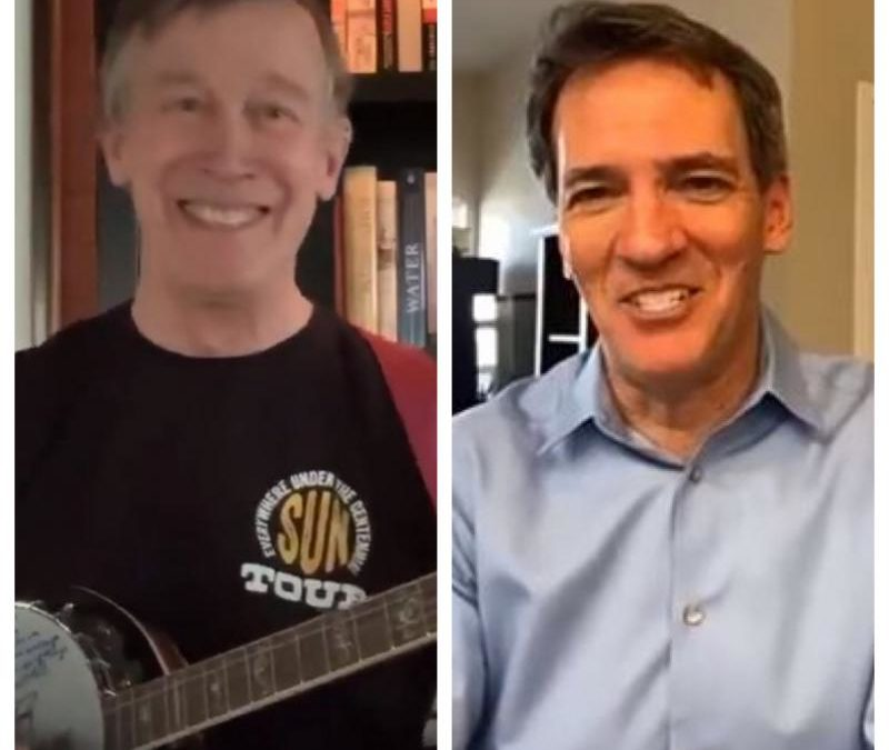 Zoom Calls And Banjos: How Hickenlooper And Romanoff Are Adapting To Life On Virtual Campaign Trail