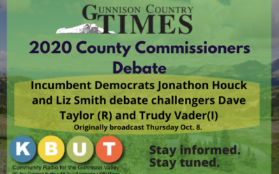 The 2020 Gunnison Country Times County Commissioners Debate – Full Audio.