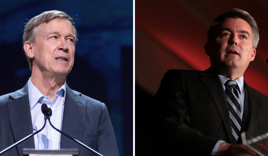 Hickenlooper, Gardner Present Opposing Views In Colorado's Final U.S. Senate Debate