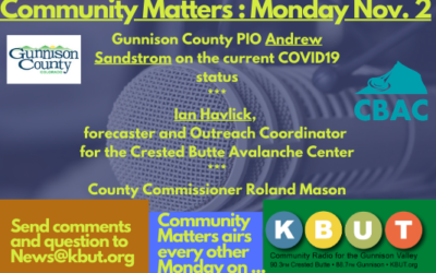 Community Matters for Monday, Nov. 2