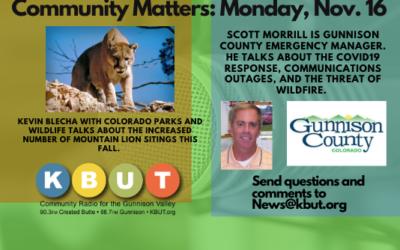 Community Matters: Monday, Nov. 19