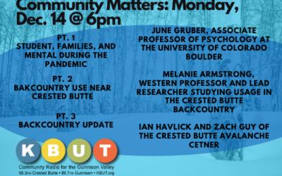 Community Matters for Monday Dec. 14