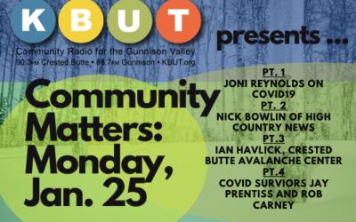 Community Matters for Monday, January 25
