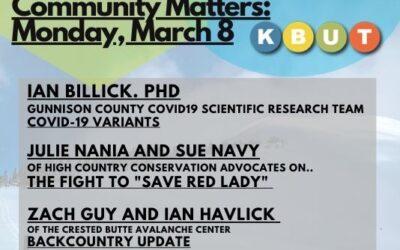 Community Matters: March 8, 2021