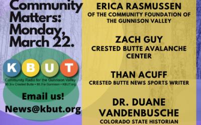Community Matters: March 22, 2021