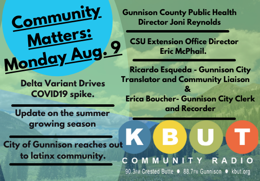 Community Matters: Monday, August 9th