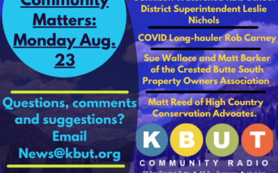 Community Matters: Monday, August 23